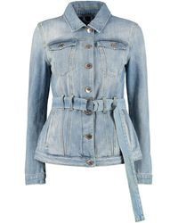 Pinko Giacca Julia in denim - Blu