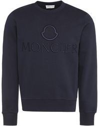 Moncler Cotton Crew-neck Sweatshirt - Blue