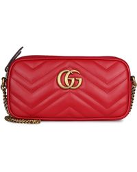 Gucci GG Marmont Quilted Leather Mini-bag - Red