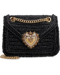 Dolce & Gabbana Devotion bag in rafia - Nero