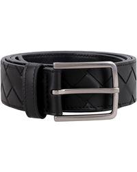 Bottega Veneta Intrecciato Vn Belt - Black