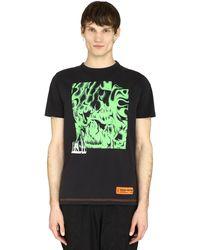 Heron Preston T-shirt in cotone con stampa - Nero