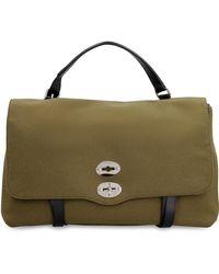 Zanellato Postina Xl Fabric And Leather Bag - Green