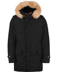 Woolrich Parka Polar con cappuccio bordato in pelliccia - Nero