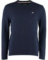 Tommy Hilfiger Long-sleeved Crew-neck Jumper - Blue