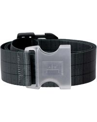 A_COLD_WALL* Checked Canvas Belt - Grey
