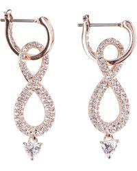 Swarovski Infinity Crystals Earrings - Metallic
