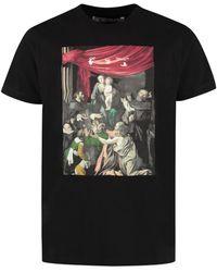 Off-White c/o Virgil Abloh T-shirt girocollo in cotone - Nero