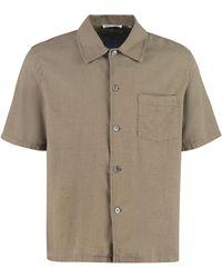 Our Legacy Camicia Box a maniche corte in cotone e lino - Verde