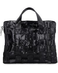 Bottega Veneta The Cassette Case Laptop Bag - Black