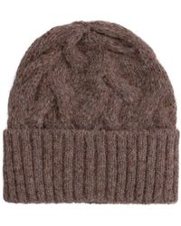 Séfr Beanie Cable Knit Hat - Natural