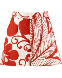 LaDoubleJ Shorts Good Butt a vita alta - Rosso