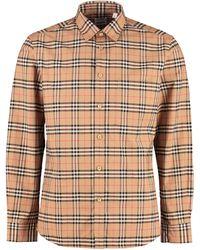Burberry Camicia in motivo check - Neutro