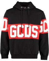 Gcds Zip-up Knit Hoody - Black