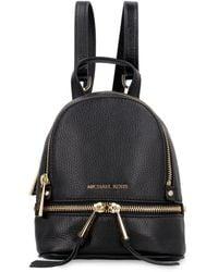 MICHAEL Michael Kors - Rhea Zip Small Leather Convertible Backpack - Lyst