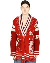 Alanui Love You California Cardi-coat - Red