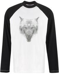 Marcelo Burlon T-shirt a maniche lunghe in cotone - Bianco