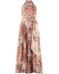 Zimmermann Wavelength Sunray Picnic Dress - Pink