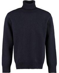 Universal Works Wool Blend Turtleneck Jumper - Blue