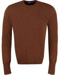 Drumohr Pullover girocollo in lana - Marrone