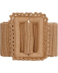MSGM Knitted Belt - Natural