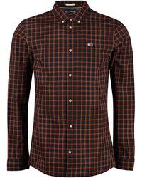 Tommy Hilfiger Camicia in cotone a quadri - Nero