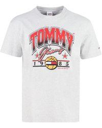 Tommy Hilfiger T-shirt girocollo in cotone - Grigio