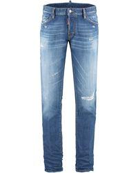 DSquared² Jeans 5 tasche Slim - Blu