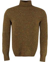Drumohr Wool And Cachemire Turtleneck Pullover - Green
