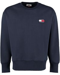Tommy Hilfiger Cotton Crew-neck Sweatshirt - Blue