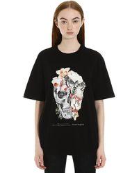 Alexander McQueen Flora And Skull Print T-shirt - Black