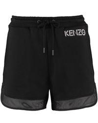 KENZO Logo Print Sweatshorts - Black