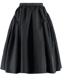 Alexander McQueen Gathered Skirt - Black
