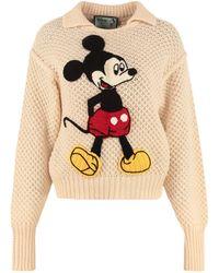 Gucci Disney X Wool Pullover - Natural