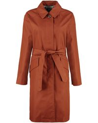 A.P.C. Lucienne Cotton Trench Coat - Red