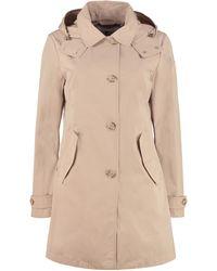 Woolrich Trench coat Charlotte con cappuccio - Neutro