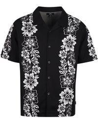 Stussy Printed Short Sleeve Shirt - Black