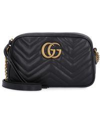 Gucci Borsa a spalla GG Marmont matelassé misura piccola - Nero