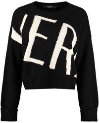 Versace Maglione girocollo in lana - Nero