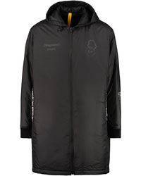 7 Moncler Frgmt Hiroshi Fujiwara Bastonx Hooded Long Down Jacket - Black