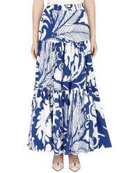 LaDoubleJ Big Gathered Skirt - Blue