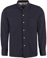 Universal Works - Camicia a maniche lunghe Garage in misto cotone - Lyst