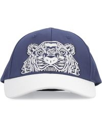 KENZO 'colorblock Tiger' Baseball Cap - Blue
