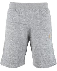 Golden Goose Shorts in cotone stretch - Grigio
