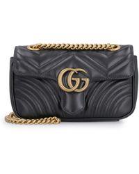 Gucci Mini borsa GG Marmont matelassé - Nero