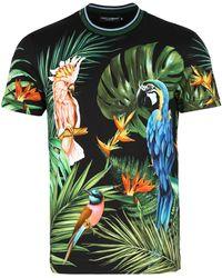Dolce & Gabbana Tropical Jungle T Shirt - Green