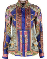Etro Camicia con stampa - Blu