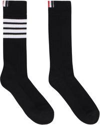 Thom Browne Cotton Blend Socks - Blue
