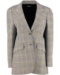 Miu Miu Prince Of Wales Jacket - Multicolour