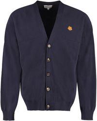 KENZO Cotton Cardigan - Blue